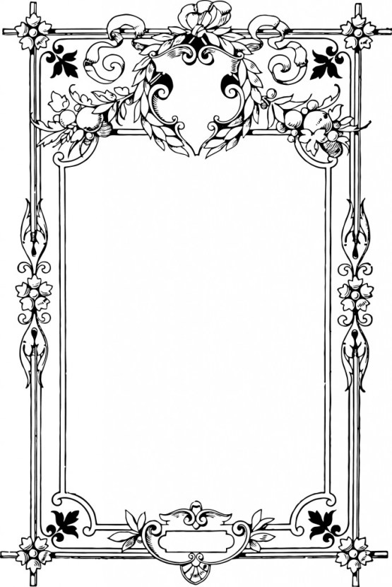 vgosn_vintage_decorative_frame_clipart_image_black_white