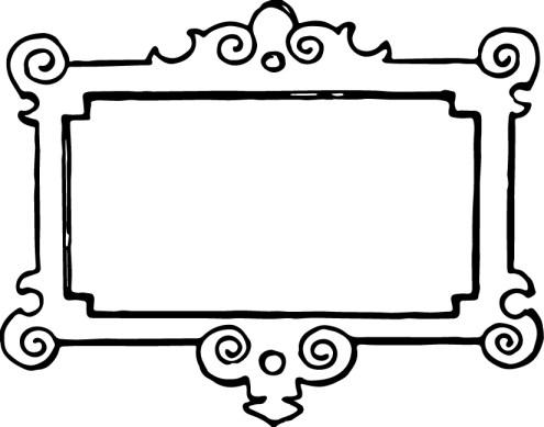 vgosn_vintage_frame_border_clipart_black_white