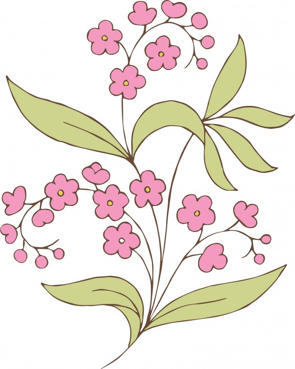 vgosn_vintage_flower_clip_art_stock_vector_colored