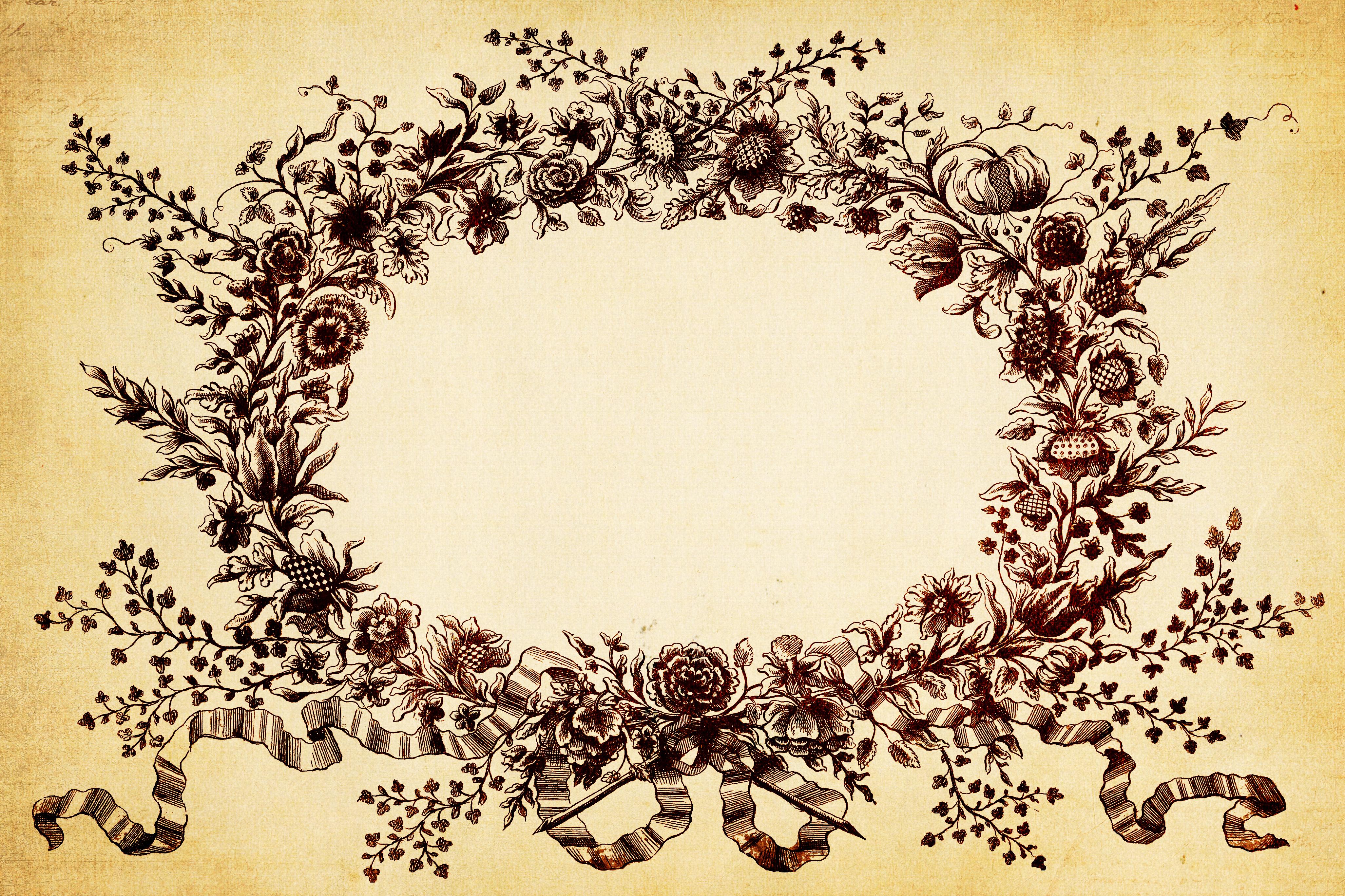 Vintage Floral Background Clipart