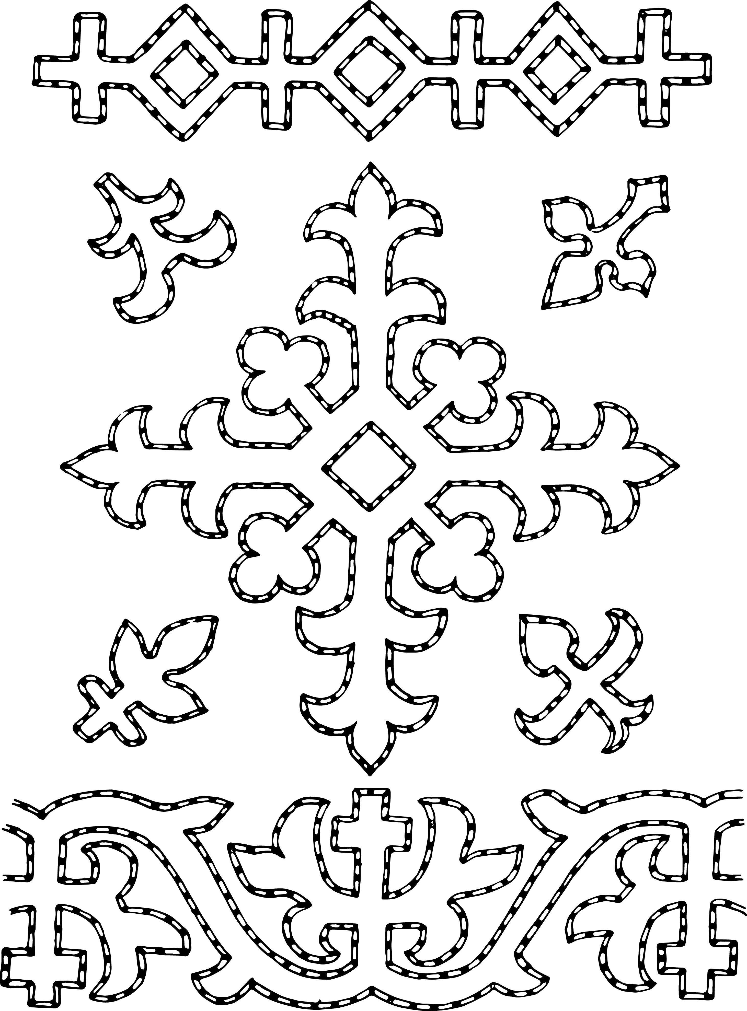 free stock vector u2013 folk art borders u0026 ornaments clip art oh so