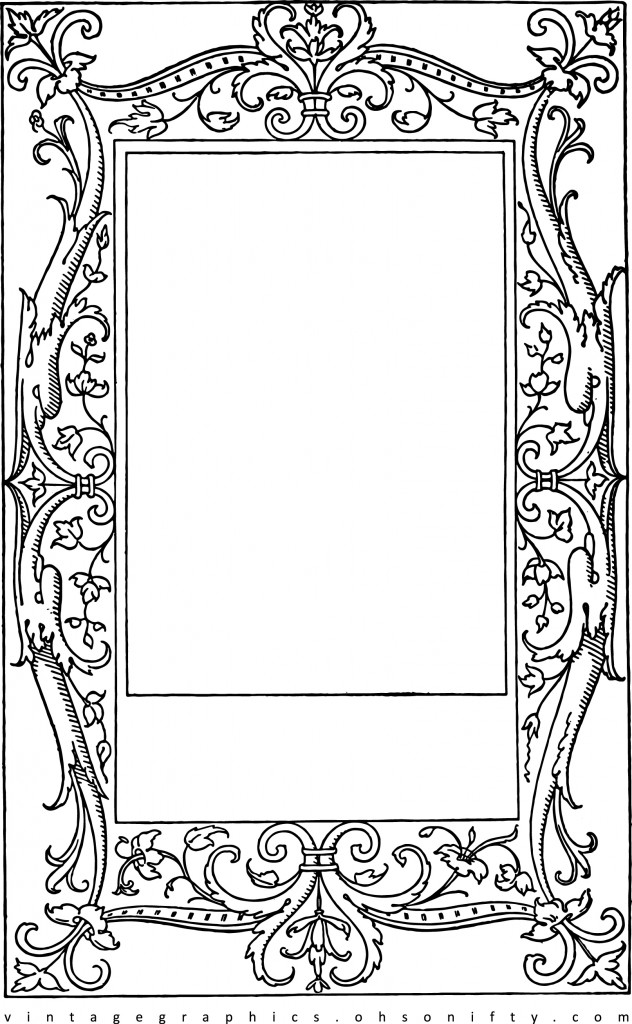 Lovely Stock Images - Vintage Frame Clip Art with Scrollwork :: Oh So Nifty Vintage Graphics ::