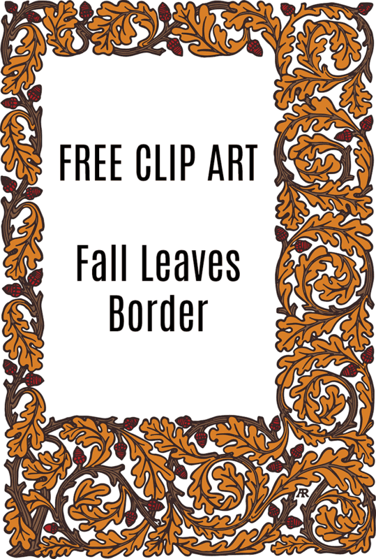 Royalty Free Images - Fall Leaf Border with Acorns