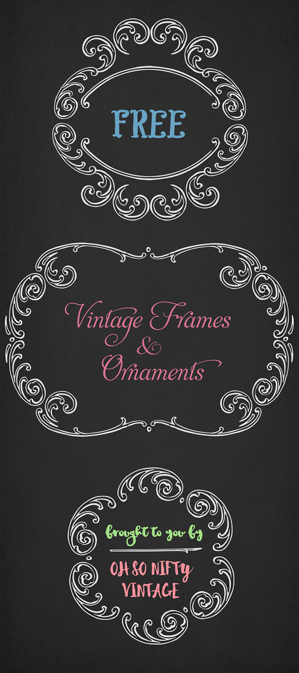 Stock Illustrations - Elegant Vintage Frames & Ornaments