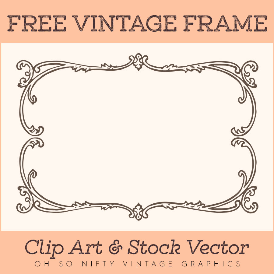 Vintage Clip Art & Stock Vector | Ornate Frame