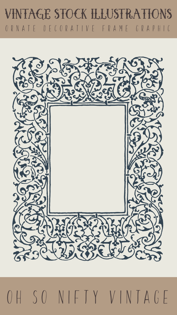 Vintage Stock Illustrations | Ornate Decorative Frame Graphic