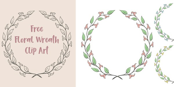 Free Floral Laurel Wreath Clip Art