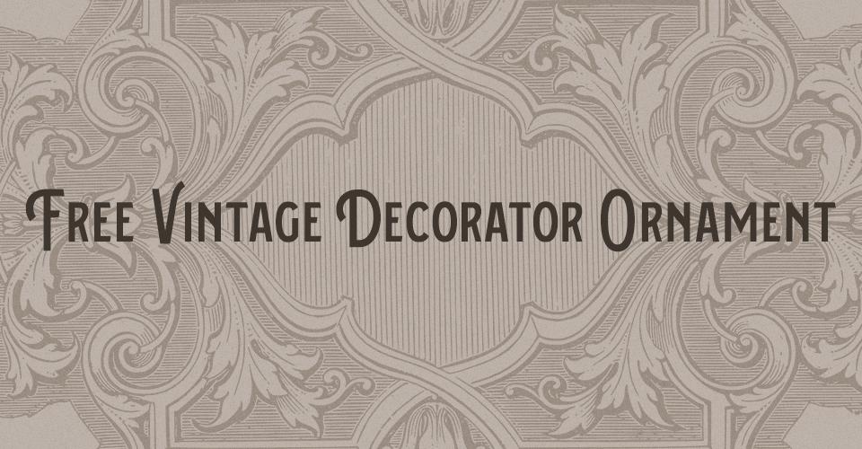Vintage Decorator Ornament Stock Vector