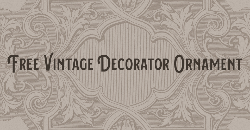 Vintage Decorator Ornament Stock Vector