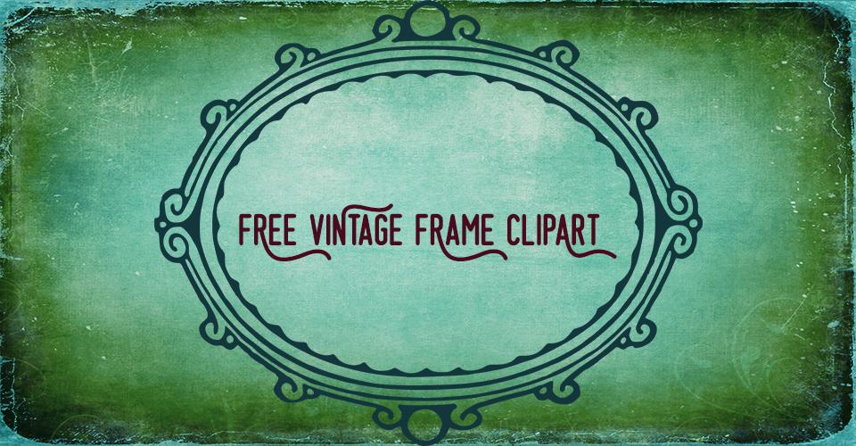 Vintage Rustic Frame Vector Clip Art