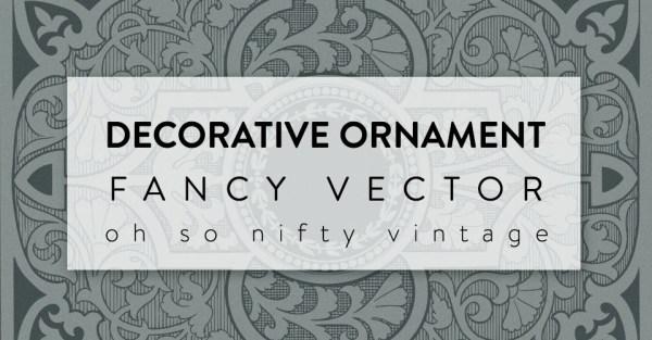 Beautiful Decorative Ornament Fancy Vector