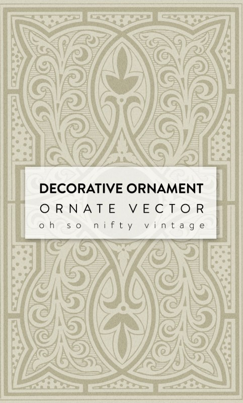 Gorgeous Decorative Ornament Ornate Vector