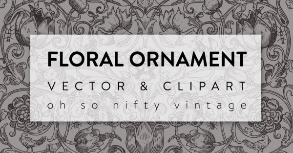 Stunning Floral Ornament Vector Clip Art