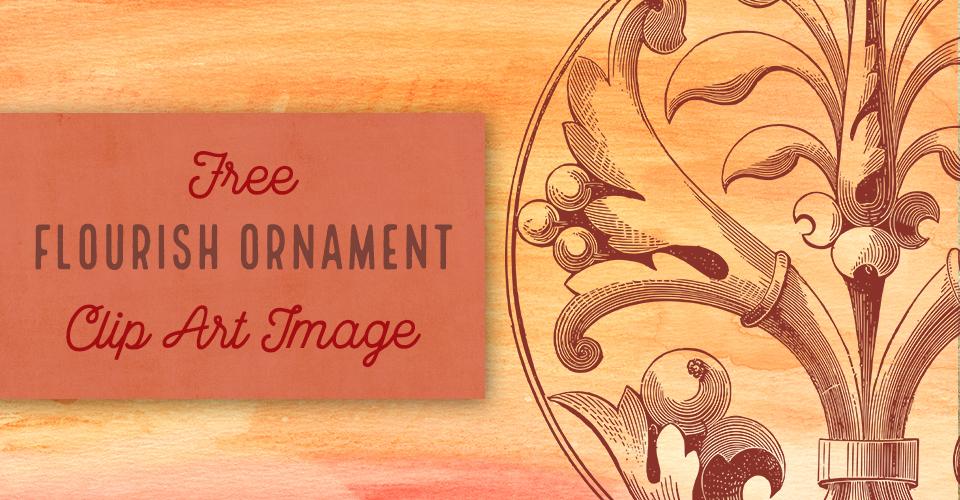 Beautiful Circle Flourish Ornament Vector Clip Art
