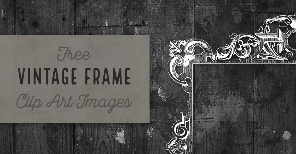 Gorgeous Vintage Frame Vector Clip Art