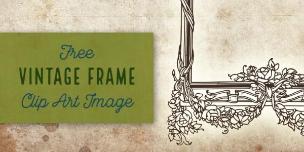Rose Garland Border Frame Vector