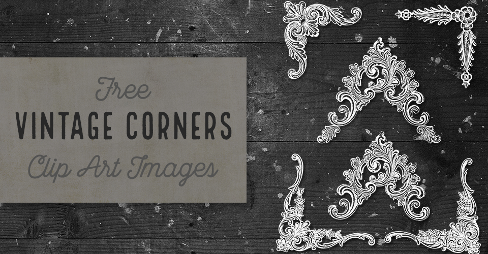 Ornate Vintage Corners Vector & Images Set 3
