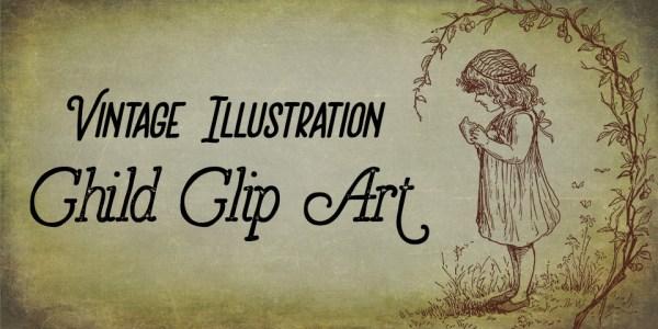 Vintage Illustration | Lovely Child Clip Art