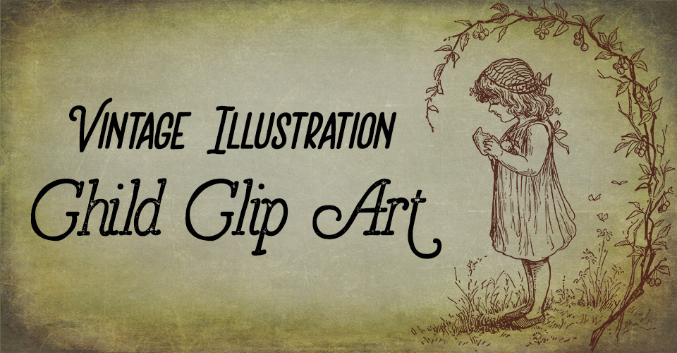 Vintage Illustration | Lovely Child Clip Art