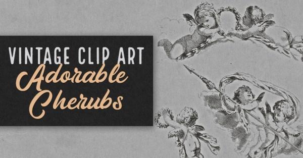 Adorable Cherubs Vintage Clip Art
