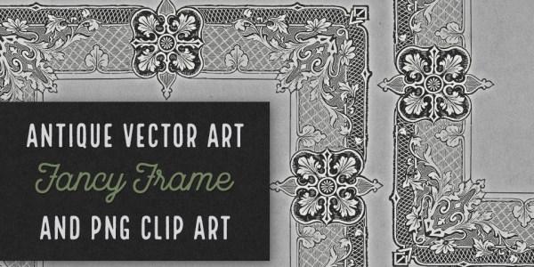 Fancy Frame Antique Vector Clip Art