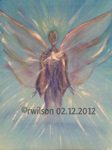 Archangel Michael (acrylic on box canvas)