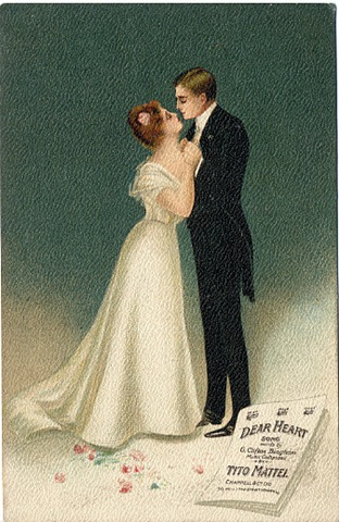 Free Vintage Valentines Day Cards Romantic Couples