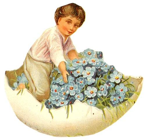 Glanzbilder Victorian Die Cut Victorian Scrap Tube