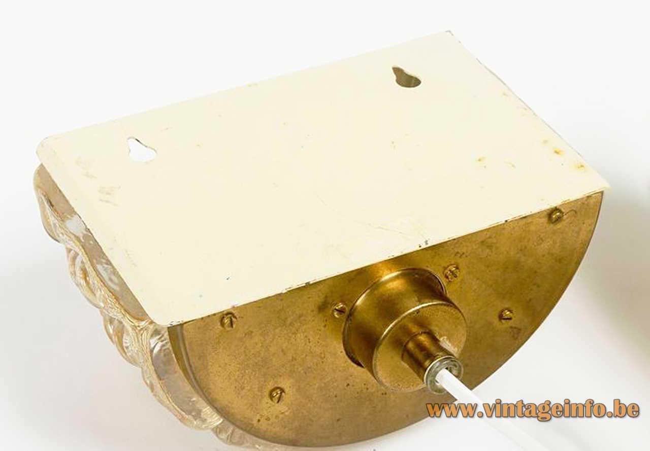 vitrika amber glass wall lamp
