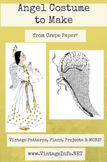 Angel Costume to Make http://vintageinfo.net/angel-costume-to-make