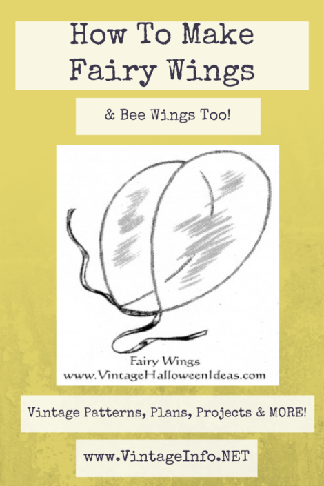 How to Make Fairy Wings & Bee Wings http://vintageinfo.net/how-to-make-fairy-wings-bee-wings/