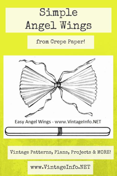 Simple Angel Wings to Make http://vintageinfo.net/easy-angel-wings-to-make/
