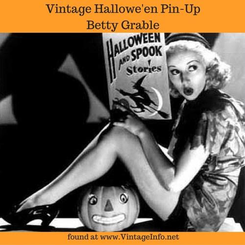 Vintage Halloween Betty Grable