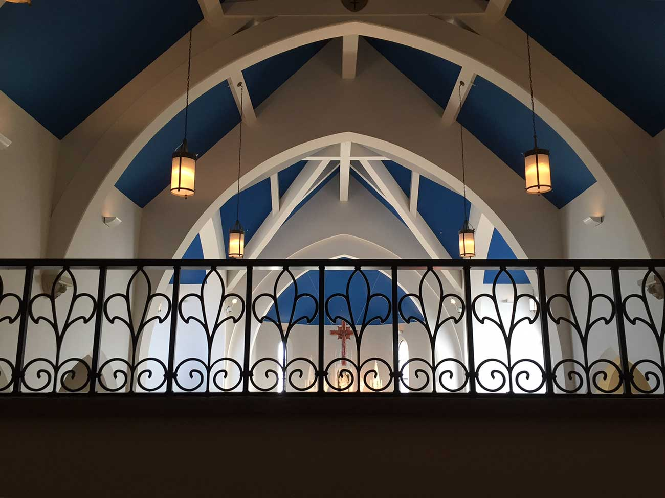 church balcony