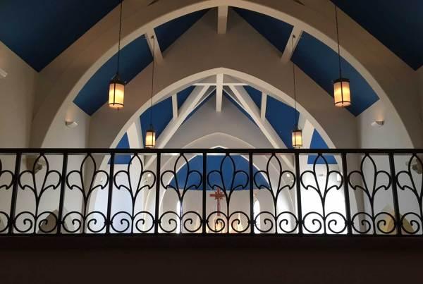 church balcony