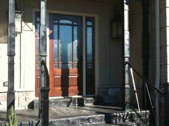 iron porch columns and rails