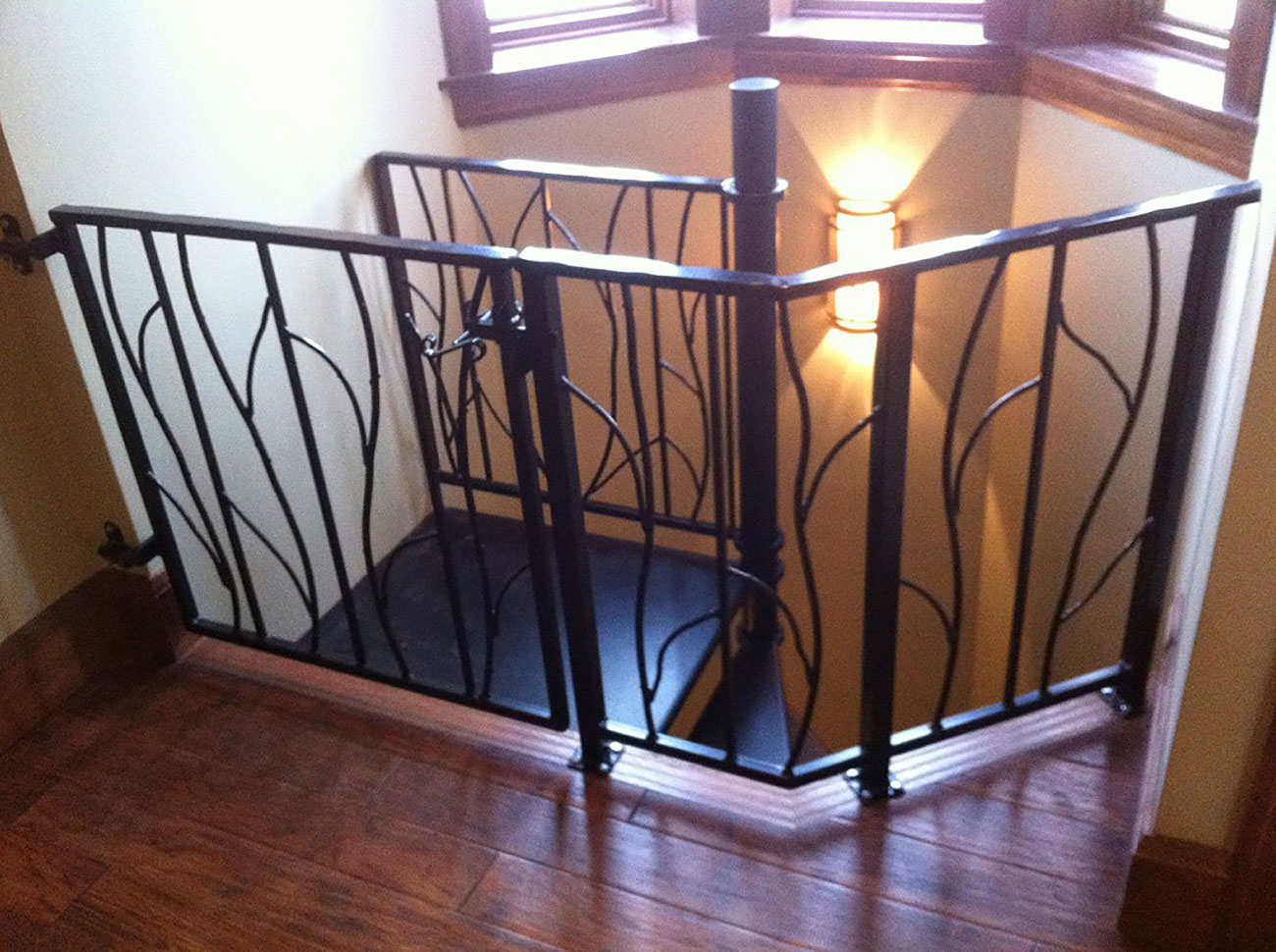 upstairs railing