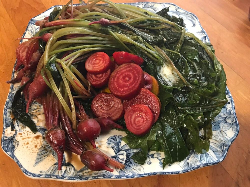 chioggia beets and greens