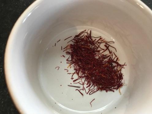 A pinch of saffron.