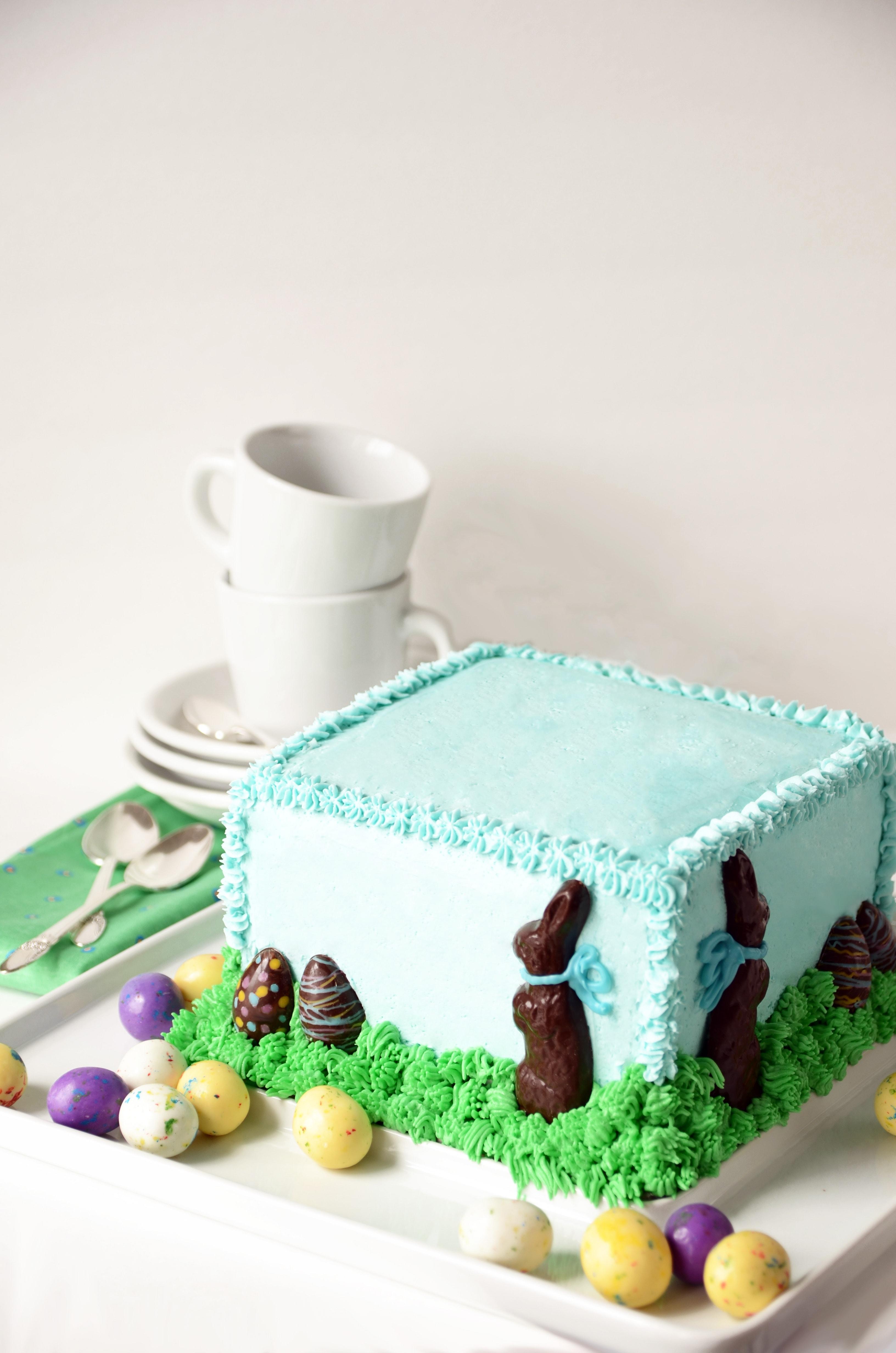 Chocolate Easter Bunny Cake - Vintage Kitty