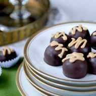 Peanut Butter Honey Dark Chocolate Truffles