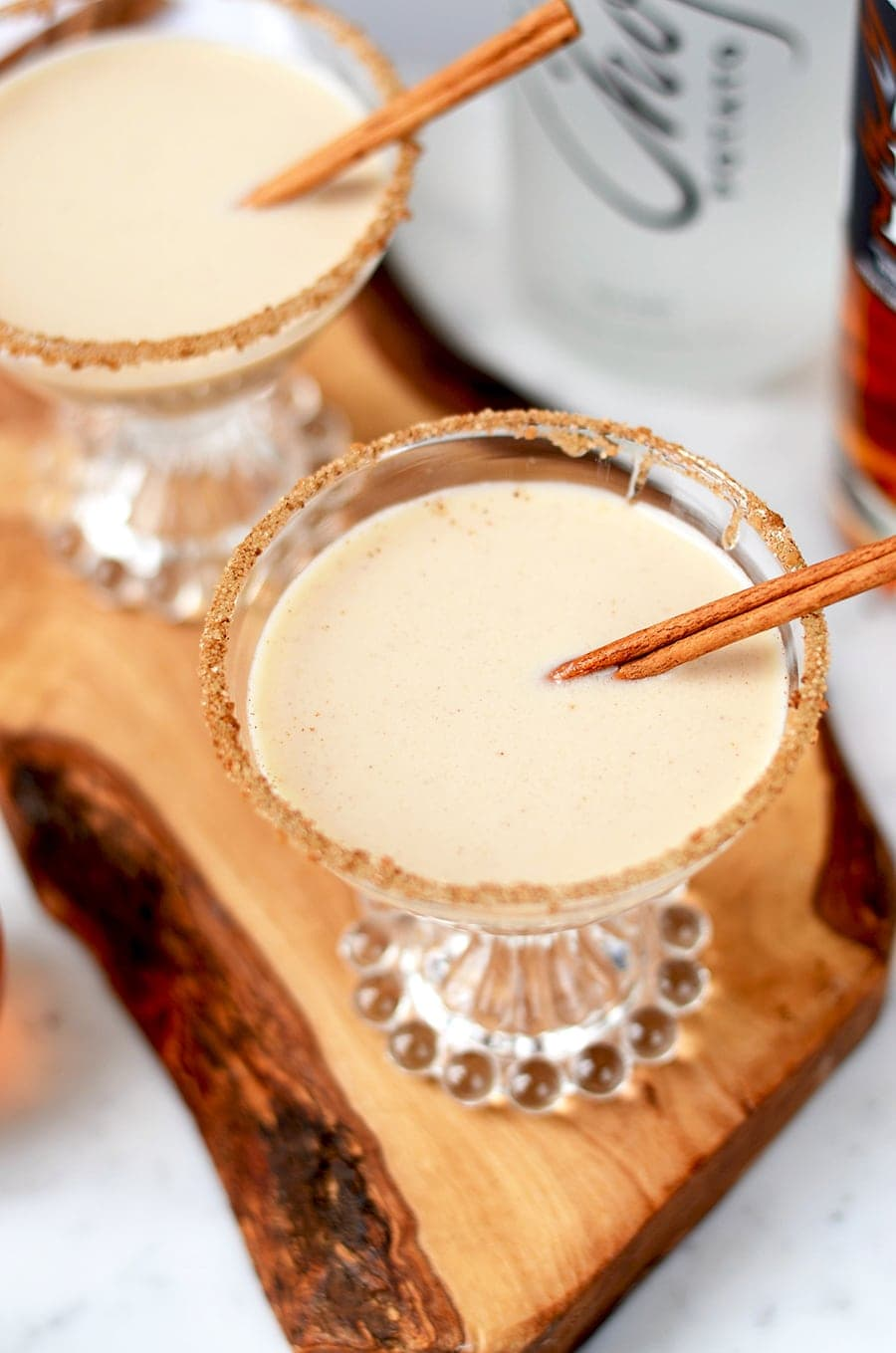 These cinnamon and honey flavored Sopapilla Martinis are inspired by the pillowy dessert pastries you find in Mexican restaurants. Marvelous!