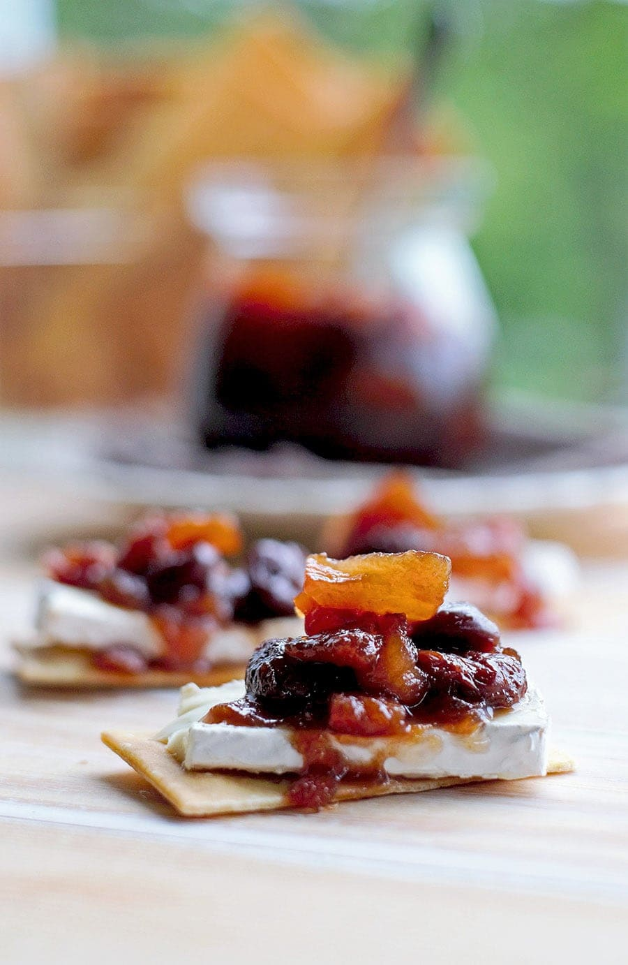 Dried Fruit Compote is a versatile topping for a variety of sweet and savory snacks. Sweet, fruity and spiced with cinnamon. nutmeg and honey.