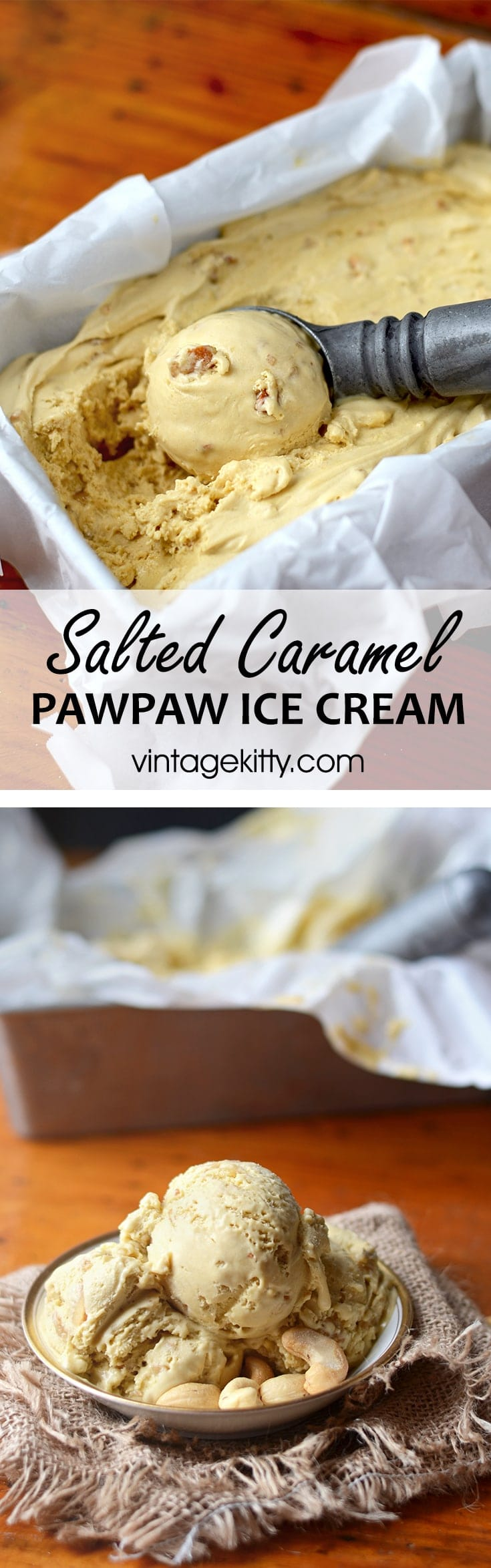 This delectable ice cream scratches all your sinful itches. It's creamy, crunchy, salty, sweet with a hint of banana mango flavor from exotic pawpaw fruit.