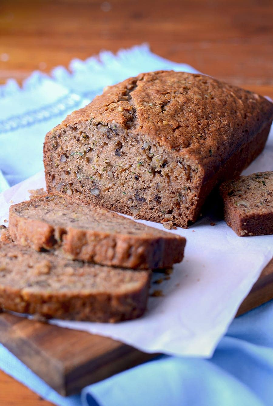 This easy recipe for Zucchini Bread has a tender crumb and loads of home baked flavor. It tastes just like mom pulled it out of the oven!