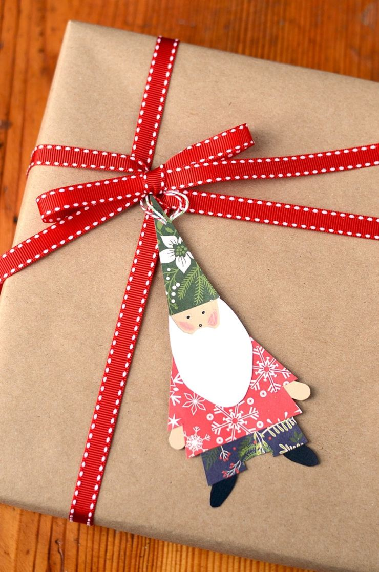 This Christmas Gnome Craft is a fun project for kids and adults! Use these paper gnomes as gift tags, Christmas ornaments or make into a holiday garland.
