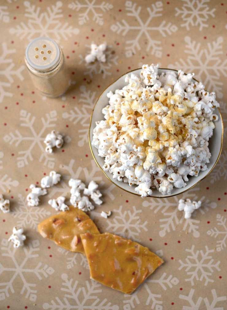 Everyone loves popcorn, so this holiday make this Peanut Brittle Popcorn Topping for the people on your list. It's sweet, salty and sure to be appreciated!