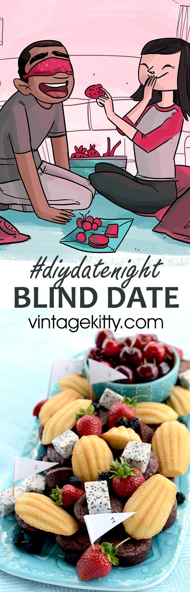 """What is sexier than a """"blind"""" date #diydatenight? Have a little blindfolded fun with a taste test challenge and double blind hide 'n seek!"""