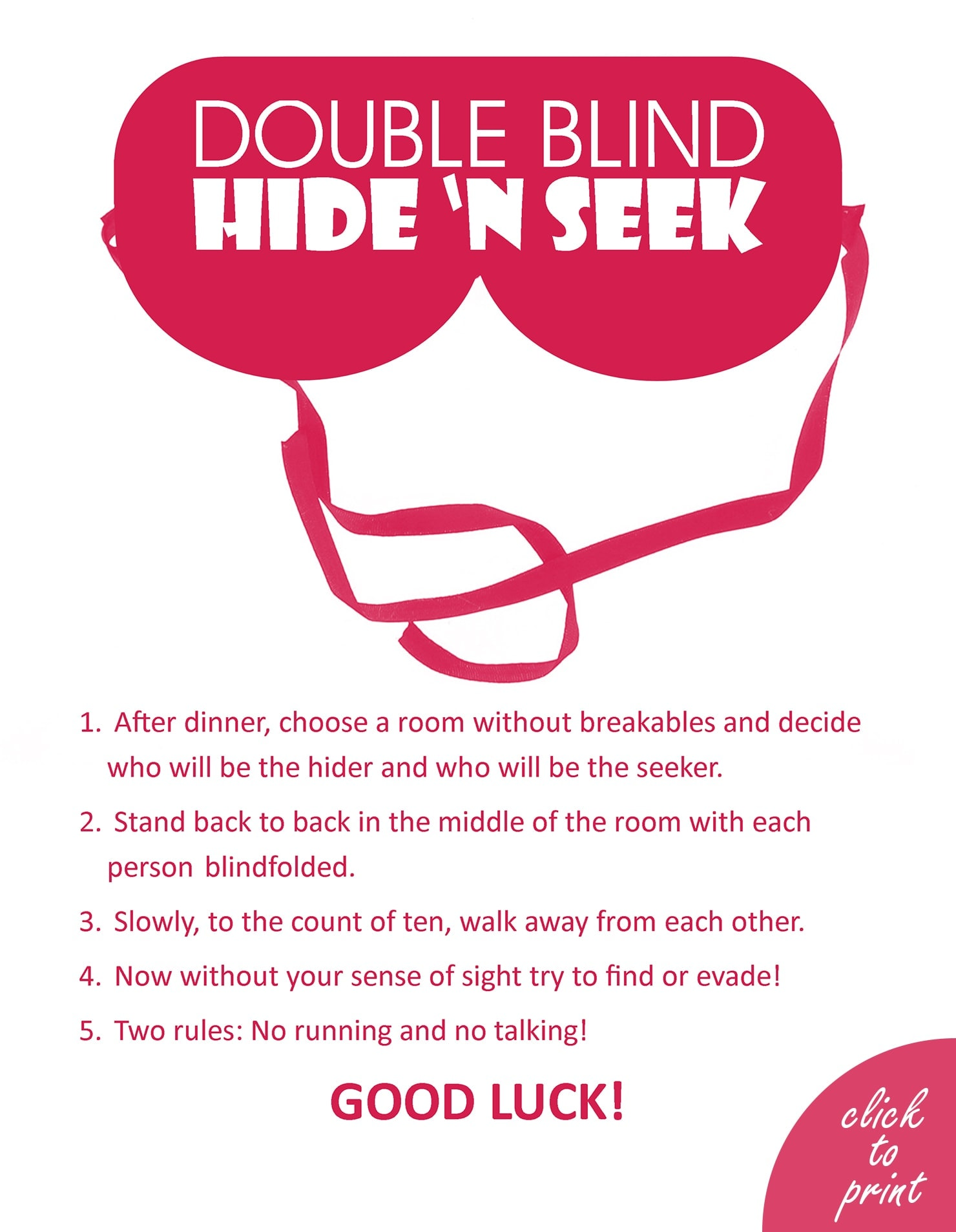 Double Blind Hide 'n Seek Instructions