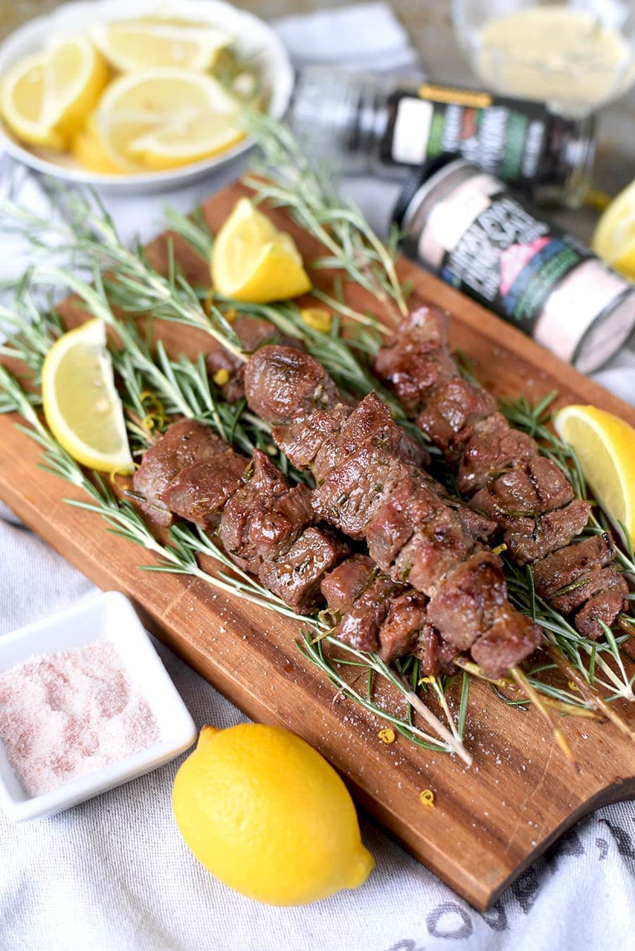 It's easy to #GrillTheGoodness when you have classic flavors like rosemary, lemon and Frontier Co-op's Himalayan Pink Salt. Bite into bright, succulent Grilled Rosemary Lamb Skewers that are fork-tender and delicious. #CookWithPurpose #sponsored #ad